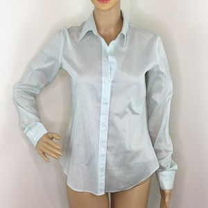 Theory Mint Green Button Down Blouse